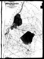 Mercen County Map, Mercer County 1890